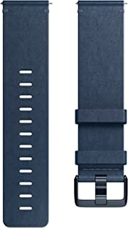 Fitbit Versa Family Accessory Band, Official Fitbit Product, Premium Horween Leather, Midnight Blue, Small