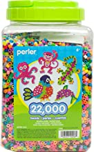 Perler Beads Bulk Assorted Multicolor Fuse Beads for Kids Crafts, 22000 pcs