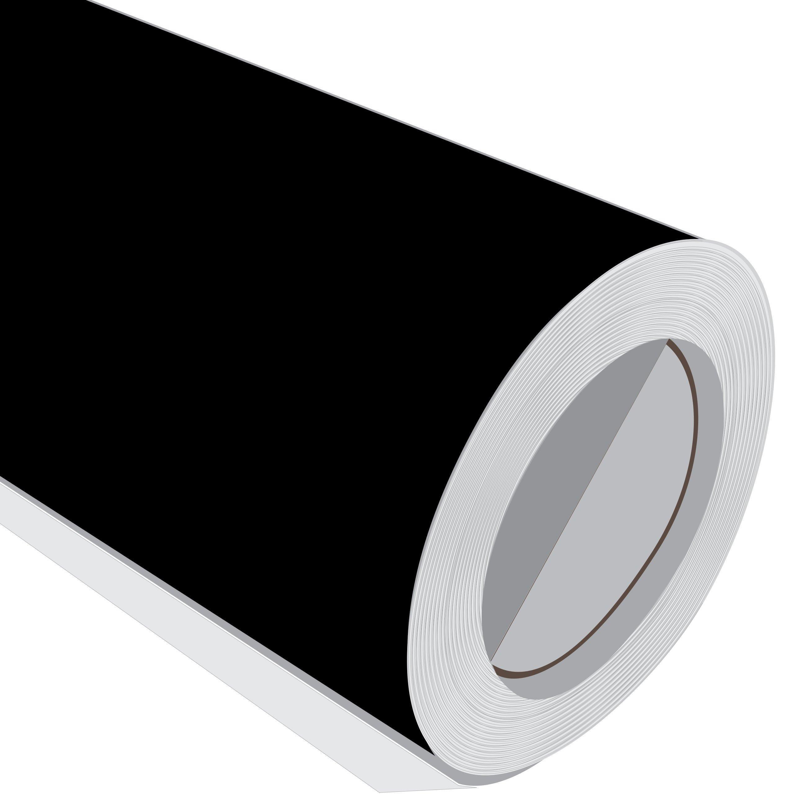 2 Metre (2 m) rollo de HD Negro Brillante 610 mm de ancho Vinilo autoadhesivo: Amazon.es: Hogar