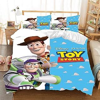 ZZALL Toy Story Parure de lit pour enfant en coton polyester doux et confortable avec taie doreiller 50 x 75 cm//80 x 80 cm 135 x 200 cm + 1 taie doreiller 50 x 75 cm, style 05