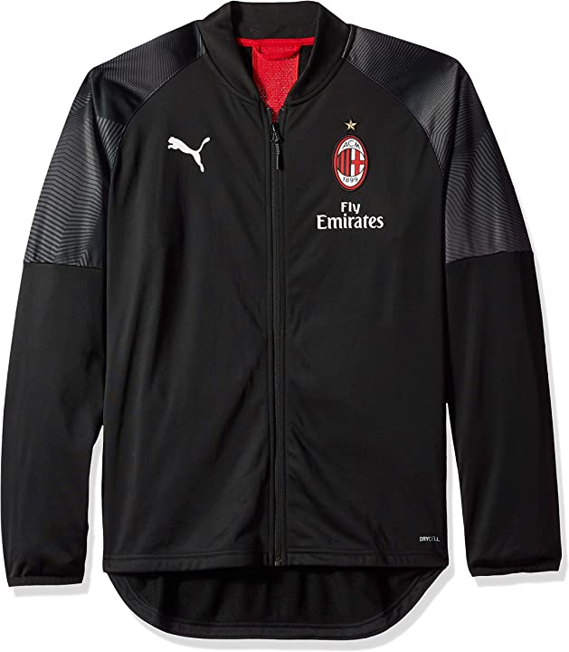 Giacca termica uomo puma ac milan stadium poly jacket with sponsor logo 75486401