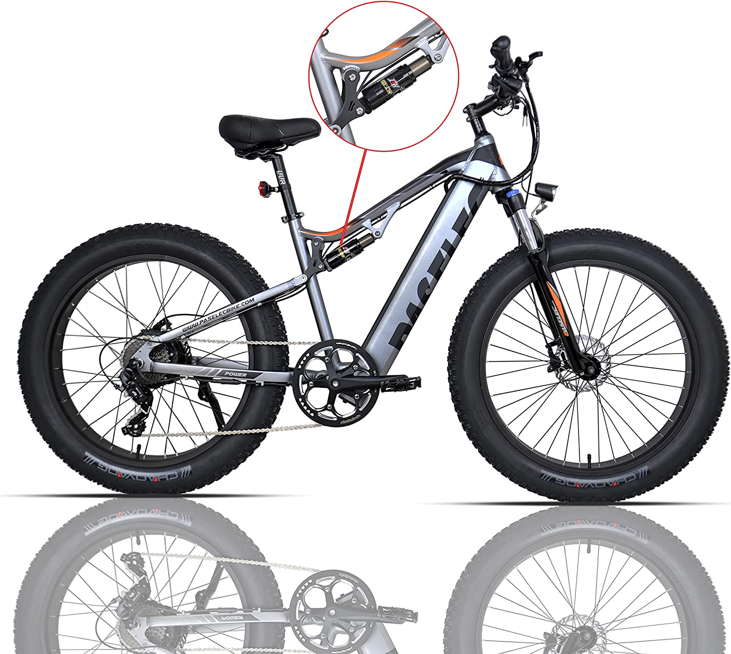 Electric Mountain Easy-to-use Bike for Kansas City Mall Adults 4.0 Fat E-B Tire
