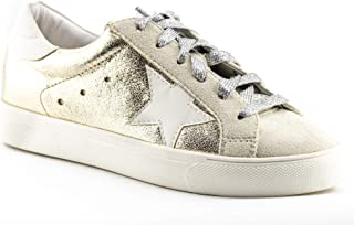 FREE Shipping on eligible orders. CALICO KIKI Women s Fashion Sneakers  Tennis Shoes - Glitter Lace up - Metallic Comfort for All 671ad1022ba2