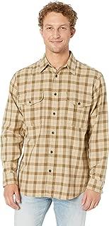 Men's Lightweight Alaskan Guide Shirt Khaki/Brown Plaid Large