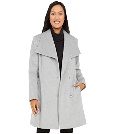 Vince Camuto Belted Single Breasted Wool Coat V20772X-ZA (Light Grey) Women