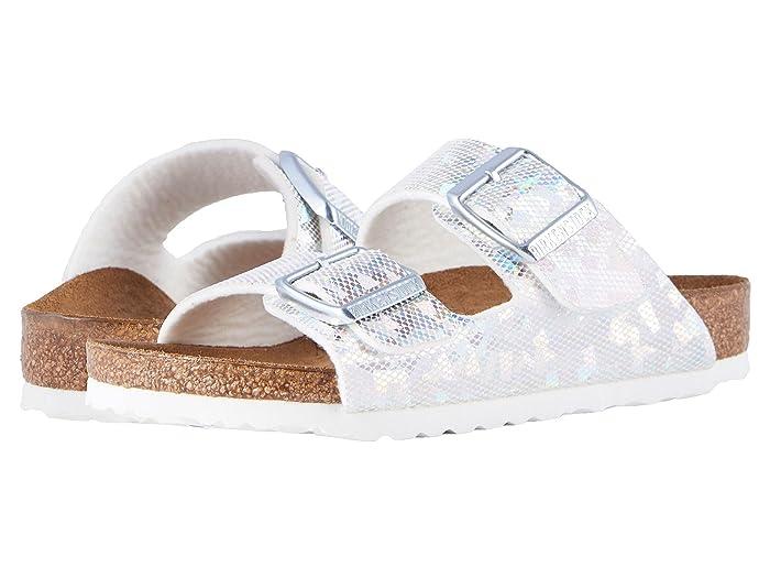 Birkenstock Kids  Arizona (Toddler/Little Kid/Big Kid) (Hologram Silver Birko-Flor) Girls Shoes