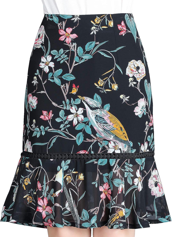 DISSA DA1231 Women Hight Waist Midi Pencil Skirt