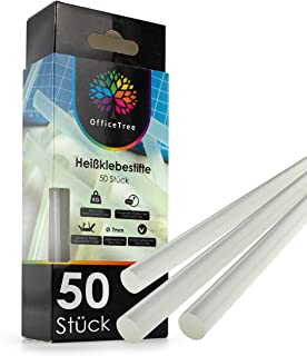 ProfessionalTree OfficeTree ® 50 Bâtons de Colle - 7 x 150 mm - Colle Extra Forte pour Pistolet à Colle Chaude Ordinaire p...