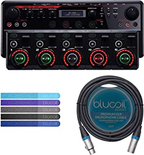 BOSS RC-505 Loop Station Tabletop Looper Bundle with Blucoil 10-FT Balanced XLR Cable, and 5-Pack of Reusable Cable Ties