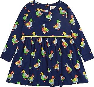 Piccalilly Robe en jersey pour fille en coton bio doux, imprimé canard, de 2 à 10 ans