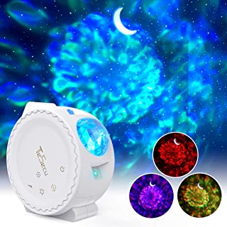 Cynkie Ocean Wave Night Light Projector 12 LED /& 7 Colors Kids Night Light with Built-in Mini Music Player and Remote Control for Living Room Bedroom