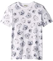 Kenzo Kids - All Over Printed Tiger Short Sleeve T-Shirt (Big Kids)