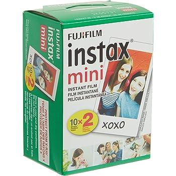 Fujifilm INSTAX Mini Instant - Película para todas las Mini cámaras Instax, Blanco