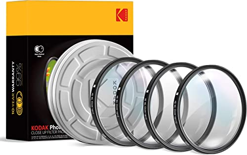 lowest KODAK high quality high quality 40.5mm Close-Up Filter Set w/Mini Guide | Pack of [4] +1, 2, 4, 10 Macro Lens Filters | Achieve Greater Magnification Clarity Focus for Close Up Photography| Multi Coated 16-Layer Nano Glass online sale