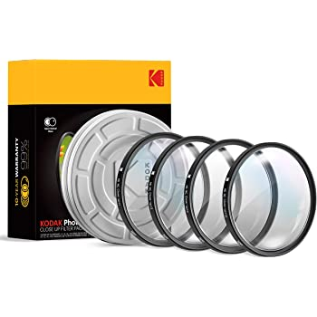 KODAK 58mmClose-Up Filter Set w/Mini Guide | Pack of [4] +1, 2, 4, 10 Macro Lens Filters | Achieve Greater Magnification, Clarity & Focus for Close Up Photography| MultiCoated 16-Layer Nano Glass