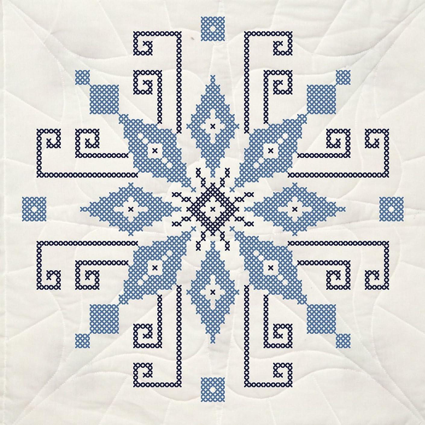 Fairway 95211 Quilt Blocks, Pin Wheel Design, White, 6 Blocks Per Set