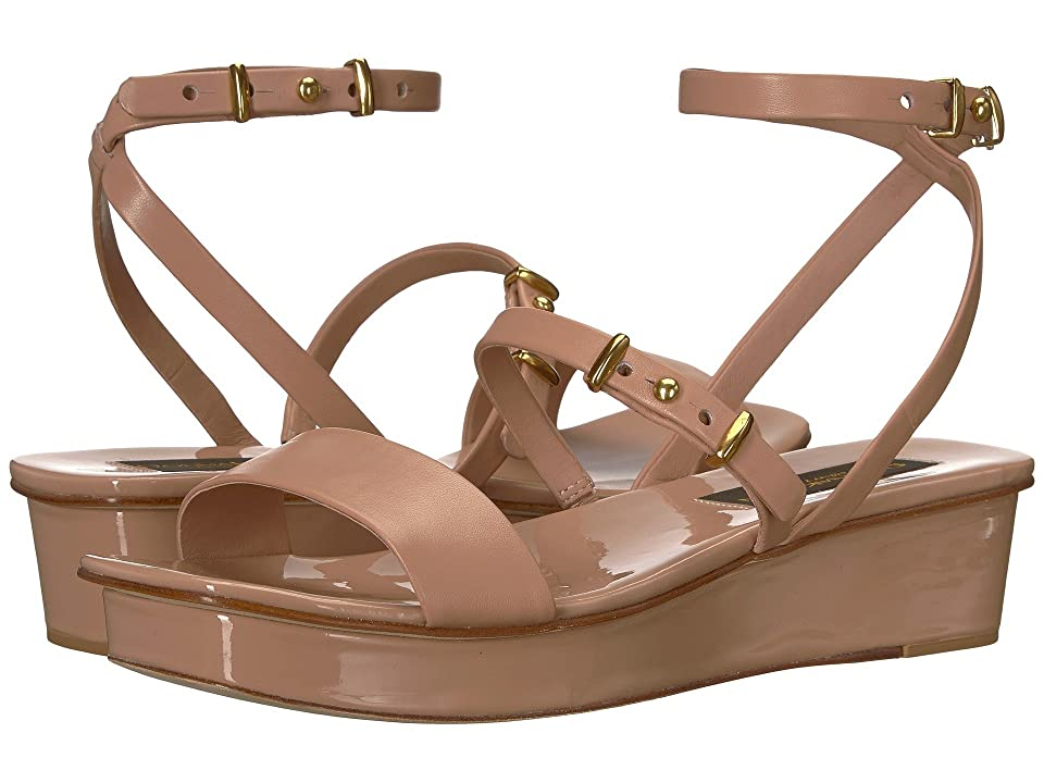 Donna Karan Velda Sandal (Dusty Rose Nappa Leather) Women