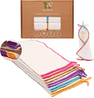 Reusable Bamboo Towels   Kitchen Unpaper Towel   Eco-Friendly Paper Towel Alternative   Baby Organic Wipes   Unbleached Cl...