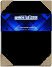 """25 Dark Black Smooth Card/Cover Sheets - 8"""" X 10"""" (8X10 Inches) Photo Picture-Frame Size - 80# (80 lb/Pound) - Cover Weigh..."""
