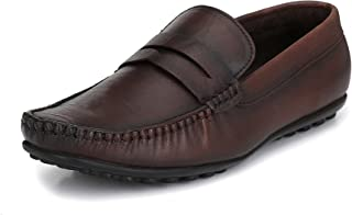 EL PASO Men's Genuine Leather Casual Loafer Shoes