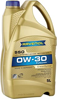 RAVENOL J1A1559-005 SSO 0W-30 Fully Synthetic Motor Oil (5 Liter)