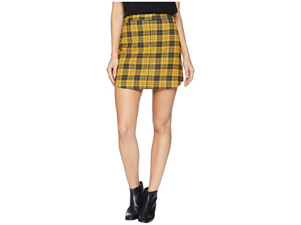 BB Dakota I Totally Paused Plaid Skirt (Mimosa) Women