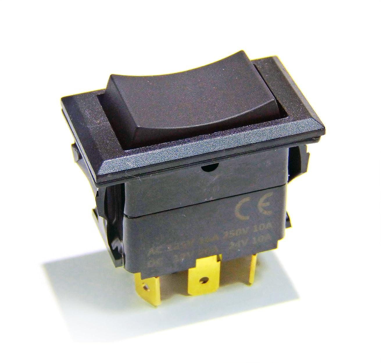 Genssi Rocker Switch On Off On Momentary Type DPDT 12V 20A or 24V 10A
