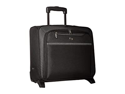 Solo New York Dakota Rolling Overnighter Case (Black) Carry on Luggage