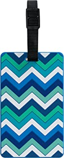 TangoTag Zigzag Luggage Tag, Blue - HTC-TT834