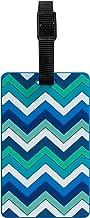 TangoTag Zigzag Luggage Tag, Blue - HTC-TT834