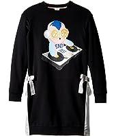 Fendi Kids - Long Sleeve DJ Fendirumi Dress w/ Side Bow Ties (Big Kids)
