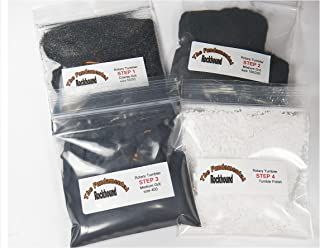 Fundamental Rockhound Products: Premium 4 Step Rock Tumbling GRIT KIT for 3 Pound Tumbler Single Use Refill