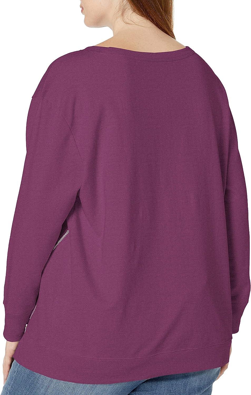 JUST MY SIZE Women's Plus Size Side Zip Sweatshirt