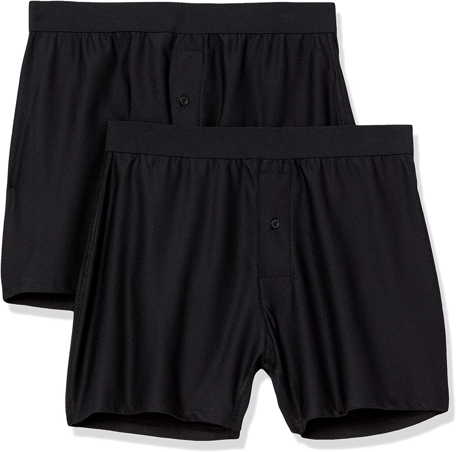 Amazon Essentials Men's 2-Pack Breathable Quick-Dry On-The-go Boxer