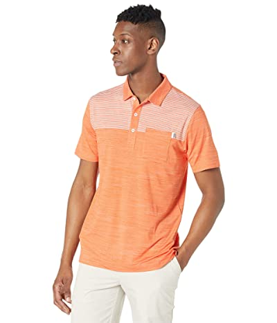 PUMA Golf Cloudspun Pocket Polo (Pureed Pumpkin Heather) Men
