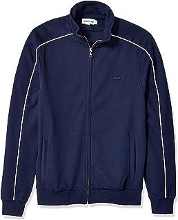 Lacoste Men's Long Sleeve Solid with Stripe Sweatshirt...