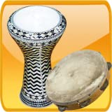 Darbuka tambourine and big drum