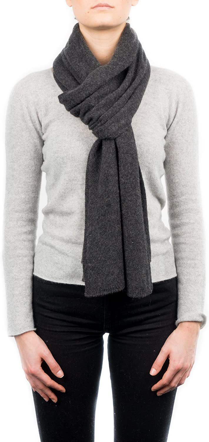 Dalle Piane Cashmere - Scarf 100% cashmere - Made in Italy - Woman/Man, Color: Anthracite, One size