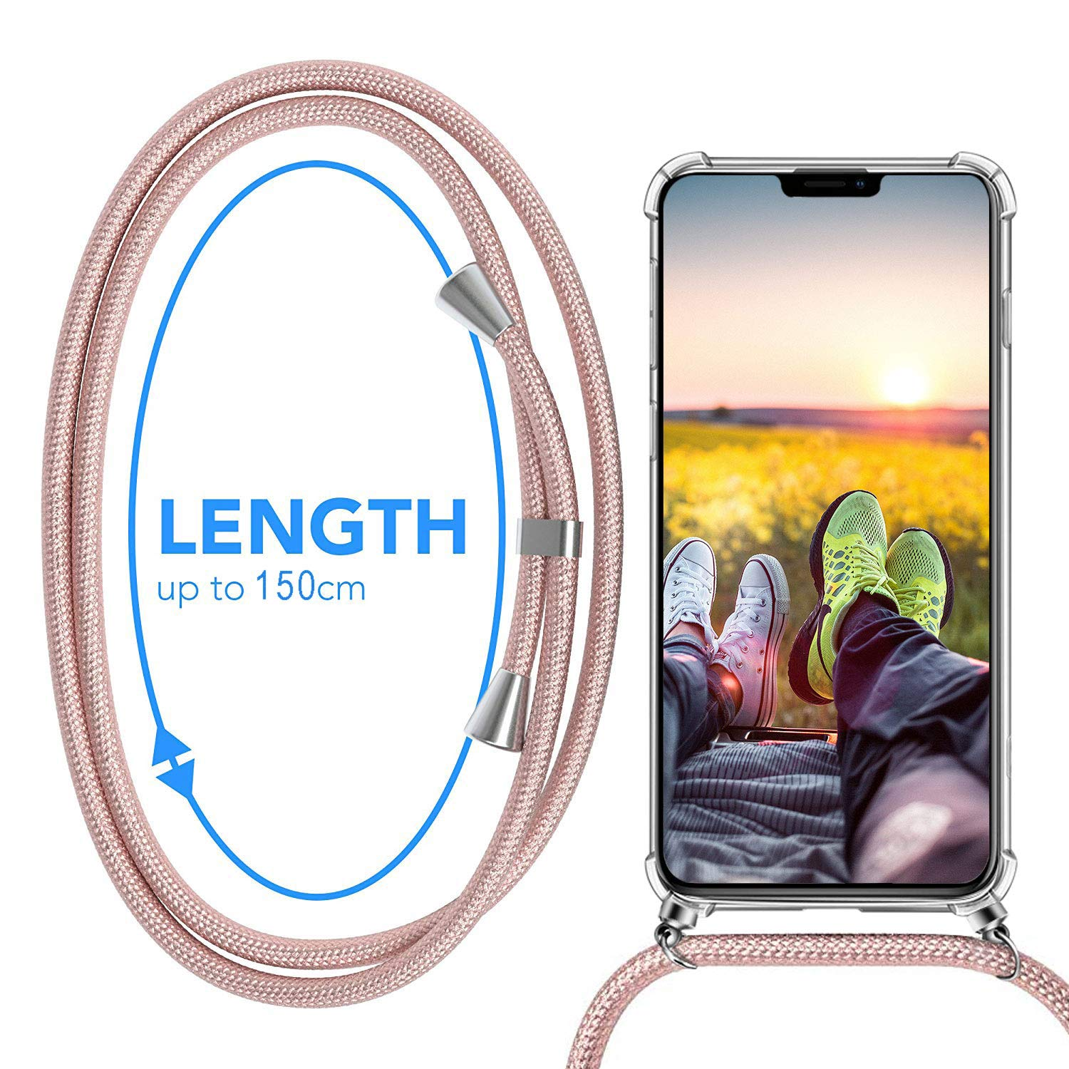 MXKOCO Carcasa de movil con Cuerda para Colgar iPhone 11-Funda ...