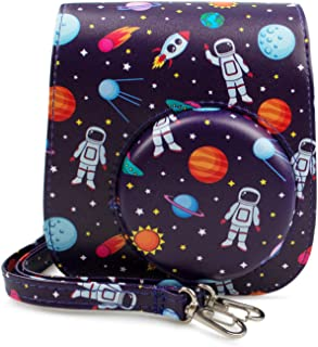 MUZIRI KINOKOO Schutzhülle für Fujifilm Instax Mini 11 / Mini 9 / Mini 8 Schutztasche FUJI Mini 11 PU Leder Soft Color Astronaut