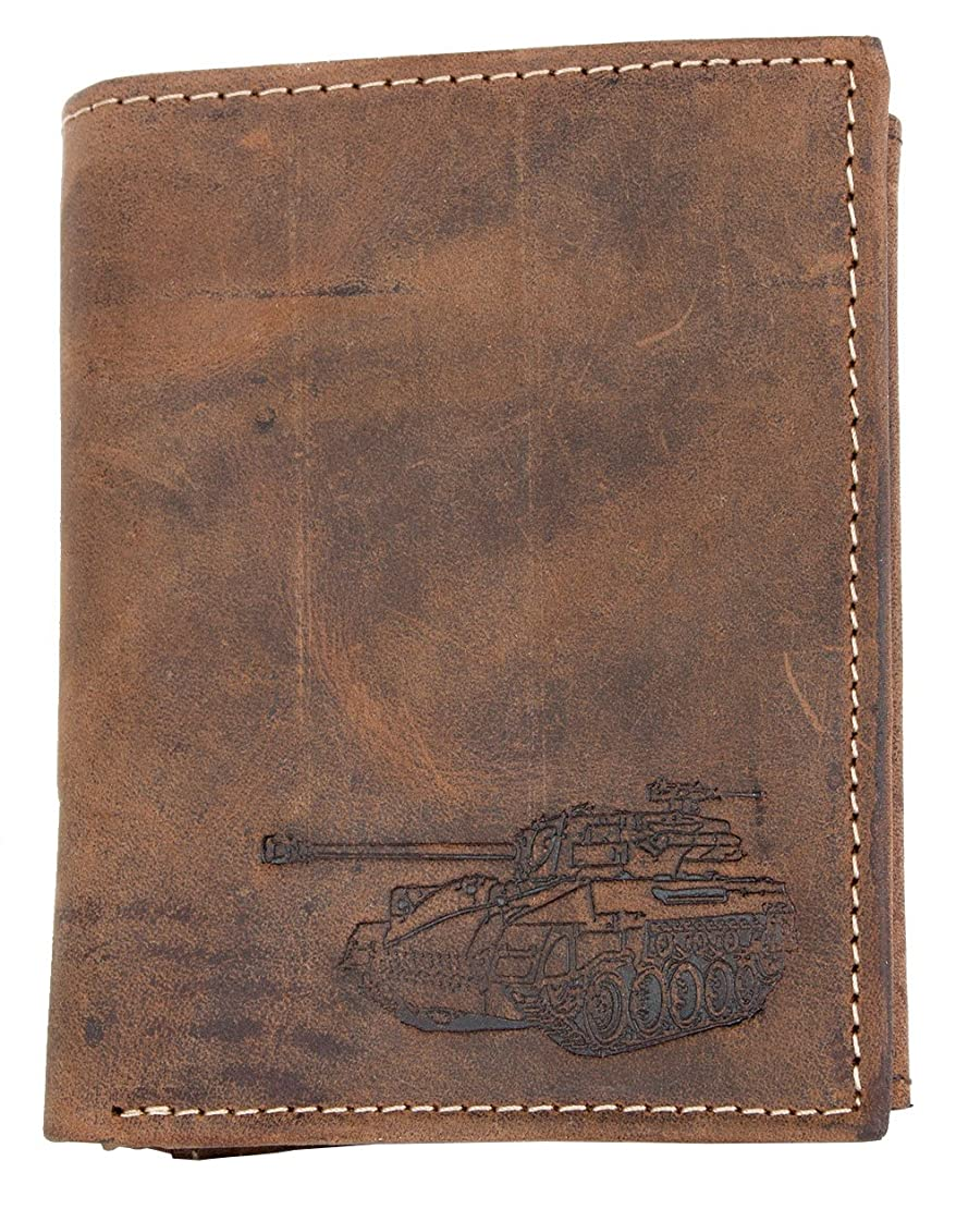 郵便屋さん数学的な読みやすさ本物の天然皮革製FLW-HLウォレット、タンク付き