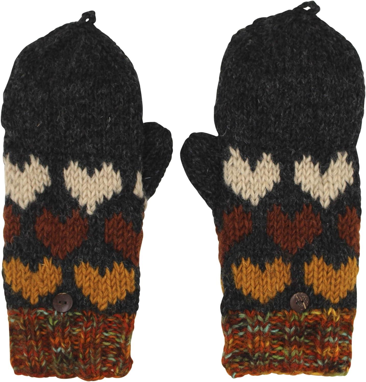 Wool Kint Hearts Mittens