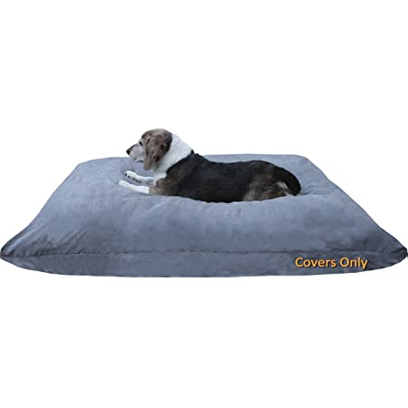 Cover Liner Only Dogbed4less Internal Duvet Case Breathable Waterproof and Water Resistant Zipper Dog Bed Cover for Small Medium to Extra Large Pet Bed Pillow