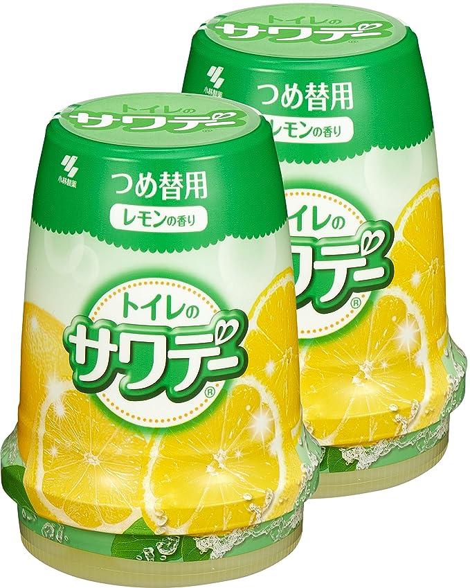 穿孔する拍手趣味【まとめ買い】サワデー 消臭芳香剤 トイレ用 詰め替え用 気分すっきりレモンの香り 140g×2個