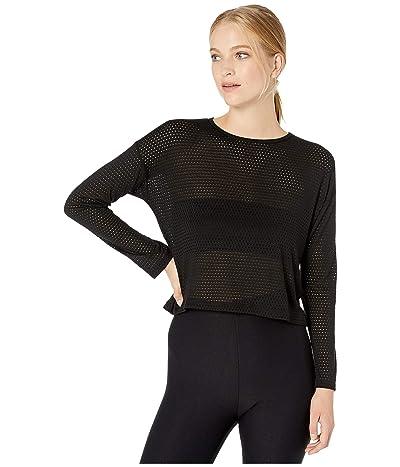 Beyond Yoga Mesh Me Up Pullover (Black) Women