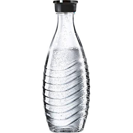 Sodastream Carafe en Verre pour Machine à Eau Pétillante Crystal, Transparente, Compatible Lave-vaisselle, 0.6 L