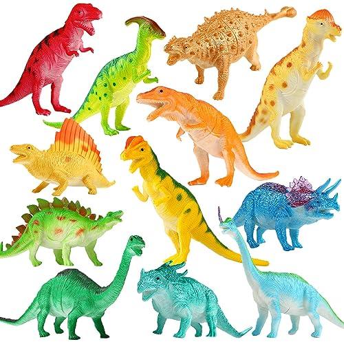 838f5f6aff Dinosaur Figure, 7 Inch Jumbo Dinosaur Toy Playset(12 pack), Safe Material