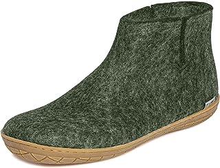 glerups dk Modèle GR Unisexe - Bottes en feutre pour adulte - Chaussures à capuche et semelle en caoutchouc.