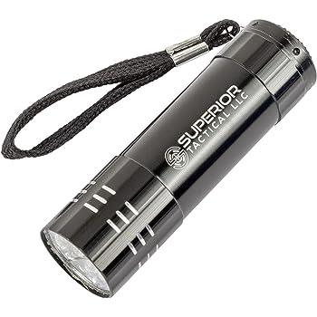MINI ULTRA BRIGHT BLACK ALUMINIUM 9 LED POCKET LIGHT FLASHLIGHT TORCH CAMPING