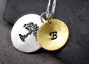 925 Sterling Silber Namenskette Gravurkette mit Lebensbaum Handmade in Berlin 70cm Echtsilberkette individualisierbar Exklusive Schmuckschachtel